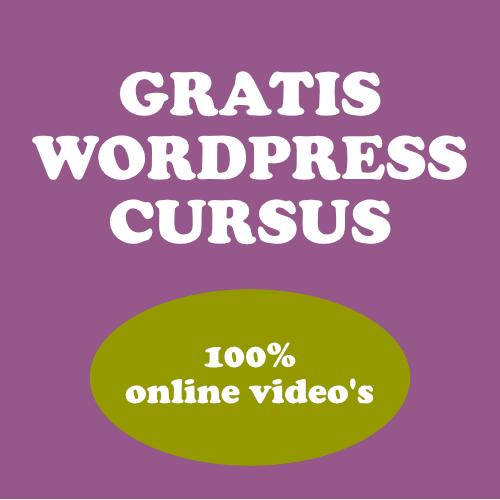 GRATIS WORDPRESS CURSUS 100% ONLINE VIDEO'S