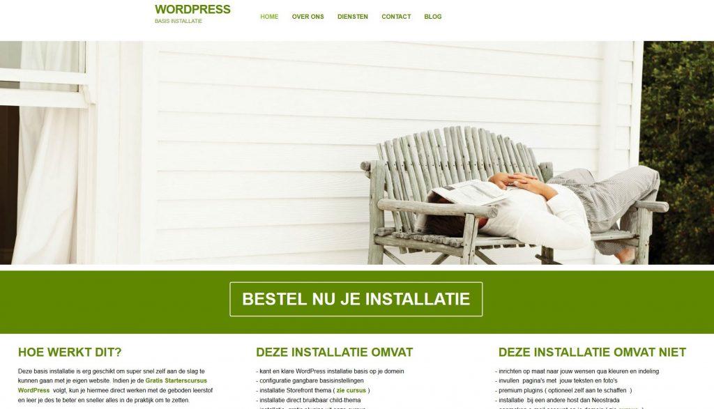 wordpress installatie basis