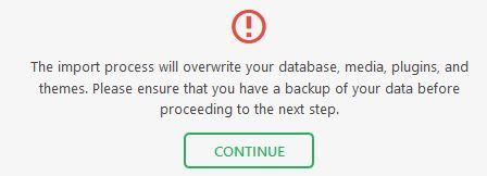 overwrite database
